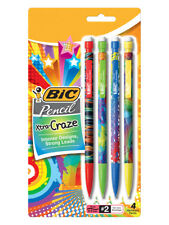 Pack of 4 BIC Xtra-Craze #2 Mechanical Pencils - Thick 0.9 mm