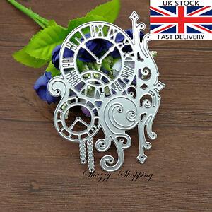 Antique Clock Steampunk Ornament metal cutting die cutter UK seller Fast Posting