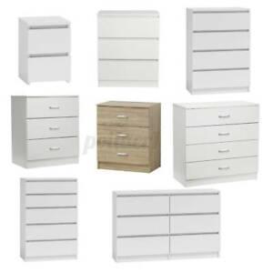 3/4/5/6 Drawers Modern Chest White Bedroom Furniture Hallway Storage Cabinet