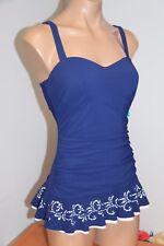 New Profile by Gottex Swimsuit 1 one piece Sz 6D underwire bra swim dress skirt