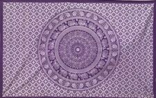 "Purple Indian Mandala Wall Hanging Tapestry Bedding Decor Table Cloth 80x54"" UK"