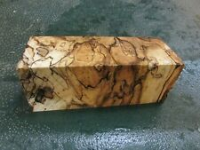 SPALTED HACKBERRY DELUXE KNIFE BLOCK/SCALES/ CALLS/ PEN BLANKS--HH---37