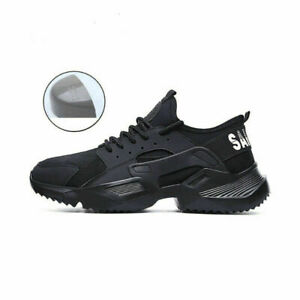 UK Unisex Safety Shoes Lightweight Trainers Women Work Steel Toe Cap Boots HOT