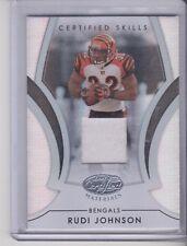 2007 Leaf Certified Rudi Johnson Certified Skills Jersey 43/100 Bengals