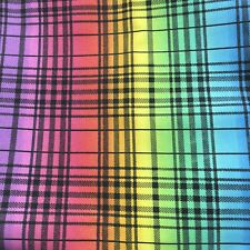 Pride Fabric Rainbow 1/4 Yard Cotton Love Plaid Black Love Is Love