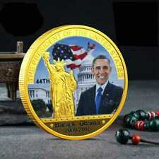 US American 44th President Barack Obama Gold Plated Eagle Commemorative Coin