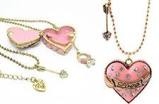 Kette Medaillon Love rosa Herz Halskette Bild Foto Anhänger zum öffnen /0039