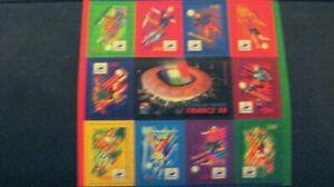 Planche de 10 timbres neufs France Coupe Du Monde de Football 1998