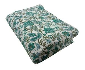 kantha Bed cover handmade Block Printed Bed Cover