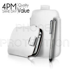 Leder Pull Tab Case Cover Etui & Stylus Für Verschiedene Sony Ericsson Handy