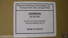 """SIEMENS - STANDARD 19"""" RACK MOUNT MOUNTING PLATE 500-893050 / MOM-RK  *NEW*"""