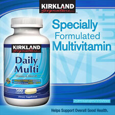 Kirkland Signature Daily Multi Heart Health Vitamins & Minerals 500 Tablets