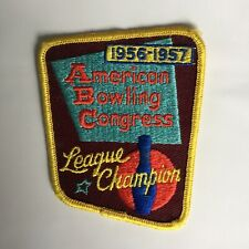 1956 1957 American Bowling Congress League Champion Bowling Patch