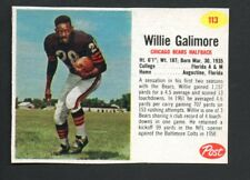 1962 Post Football Card #113 Willie Galimore-Chicago Bears