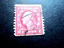 US #444 2 cent Washington, Used/Fine, Type 1 Coil, 1912