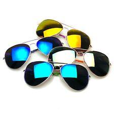 4 Pair Pack BUNDLE Sunglasses Flash Mirror Mirrored Aviator Sunglasses Shades