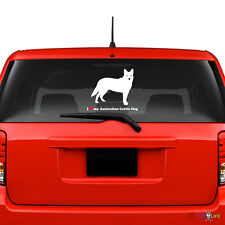 I Love My Australian Cattle Dog Windshield Sticker Vinyl Auto Window heeler