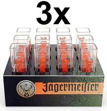 Jägermeister Becher Shotglas Schnapsglas Reagenzgläser aus Kunststoff mit Halte