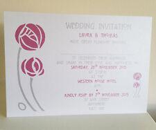 Peronalised Wedding Invitation Charles Rennie Mackintosh Scottish SAMPLE D02