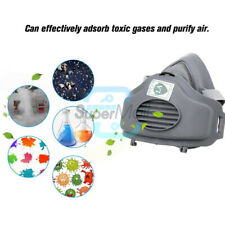 Half Face Mask Dust Gas Mask Painting Spraying Respirator Safety Works Filter