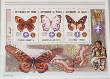 Níger 2002 klb 1976-78 MS 1085 mariposas Butterflies fauna insects **