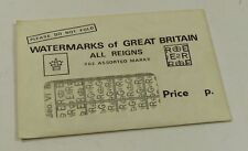 Watermarks of Great Britain - labels - 302 covering all reigns