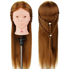 24'' 50% Real Human Hair Training Head Make up Styling Mannequin Doll with Clamp