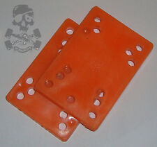 "1970 S ORIGINALE Skateboard RISER Pads arancione 1/4"" x 2-NOS"