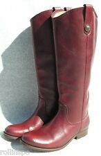 Womens Melissa Button Riding  Leather Boots size 5.5 B    Burnt Red