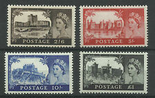 A Set of 1967, No Watermark Castles, Unmounted Mint with Gum.