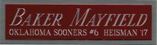 BAKER MAYFIELD HEISMAN NAMEPLATE AUTOGRAPHED Signed Football Helmet JERSEY PHOTO