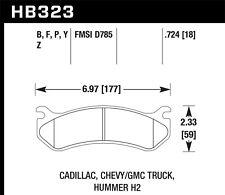 Disc Brake Pad Set-LS Front,Rear Hawk Perf HB323P.724