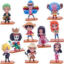 One Piece anime characters 10pcs Set PVC Figure 9 cm