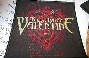 BULLET FOR MY VALENTINE COLLECTABLE RARE PATCH ENGLISH WOVEN  METAL