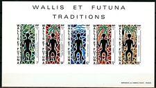 Wallis et Futuna Epreuve de Luxe 1991 Yvert bloc 5 Traditions