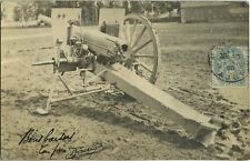 PHOTO ANCIENNE - CARTE PHOTO - CPA - MILITAIRE ARME CANON - MILITARY WEAPON