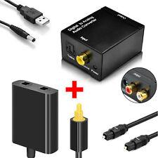 EEEKit Toslink Digital Optic Cable Splitter 1to2+Coax to Analog Audio Converter