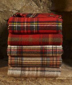Highland Tweeds Tartan Picnic blanket 100% wool throw rug British Made by Bronte