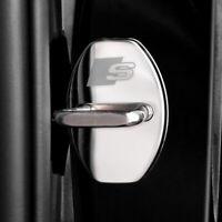 Steel Car Door Lock Buckle Cover Trim Sticker for Audi A3 A4 A5 A6 Q3 2014-2019