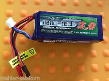 1xTurnigy nano-tech 3000mAh 2S 20~40C Lipo Akku NEU OVP 7,4V T-Rex 600 700 BEC
