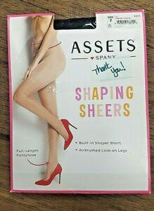 "Assets Spanx Women's Shaping Sheers Pantyhose Black Sz 2 - 5'1""-5'9"" 125-155lbs"