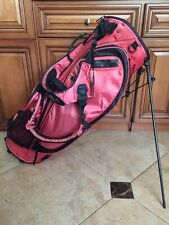 Nike Sport Golf Bag 5 Red Way Lightweight Carry Stand Revolving Dual Strap Rss