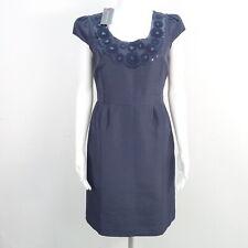 BODEN LIMITED EDITION Kleid Gr. DE 36 Blau Damen Kurzarm Floral Bestickt Seidena
