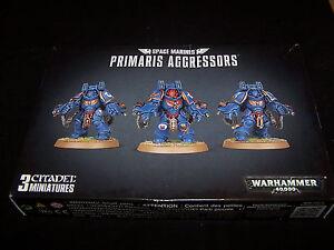 Primaris Aggressors Boltstorm Gauntlets and Fragstorm Grenade Launcher (bits)