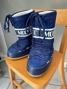 TECNICA Blaue Moonboots Schneestiefel Gr.27-30