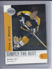 02-03 2002-03 UD A PIECE OF HISTORY BOBBY ORR SIMPLY THE BEST SB2 BOSTON BRUINS