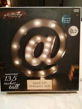 "Apothecary & Company Metal LED Marquee sign at ""@"" Lights Wall Mount Decor 13.5"