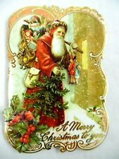 Punch Studio~Box 10~Old World Santa~Gold Foil Embellished~Christmas Cards~New!
