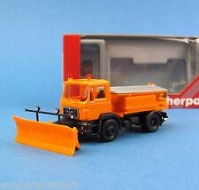 Herpa H0 143660 MAN F90 Winterdienst LKW Kommunal Orange Schneepflug HO 1:87 Box