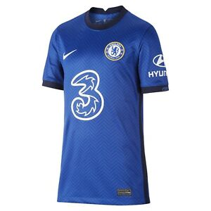 Nike 2020-21 Chelsea FC Home Stadium YOUTH Jersey CD4498-496 Size YOUTH SMALL